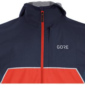 GORE WEAR R7 Partial Gore-Tex Infinium Kapuzenjacke Herren fireball/orbit blue